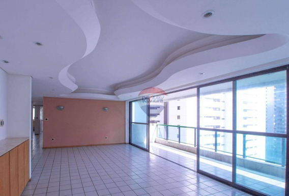Apartamento Com 4 Dormitórios Para Alugar, 195 M² Por R$ 5.000,00/mês - Parnamirim - Recife/pe - Ap0426