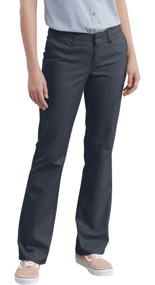 Dickies Fp121 - Pantalón Dama Stretch Corte De Bota