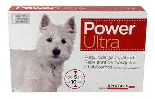 Pipetas Power Ultra Antipulgas Garrapatas Perro Peq 5 A 10kg