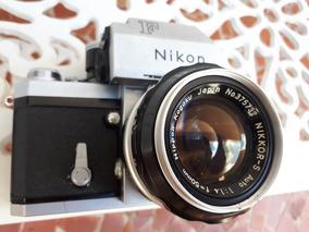 Camera Nikon F E Lente 50mm 1.4