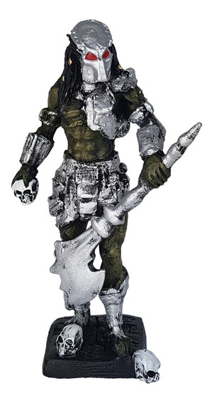 Predador Com Machado Pq Ultimate Alien Hunter Resina