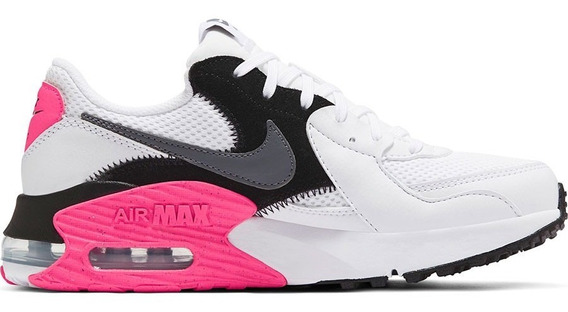 Tenis Nike Air Max Excee Blanco Negro Rosa Mujer Cd5432-100