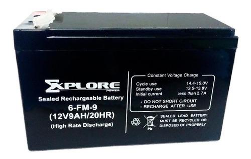 Bateria 12v 9ah Para Ups Apc Cdp Explore 9a 9amp Pila Moto