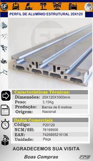 Perfil De Alumínio Estrutural 20x120mm