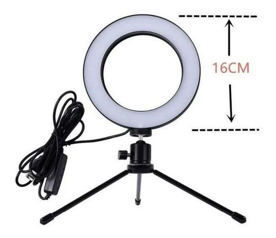 Ring Light Iluminador Selfie Makeup + Tripé De Mesa Oferta !