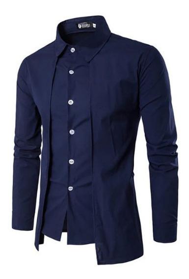 Camisa Britanica Elegante Slim Fit A La Moda