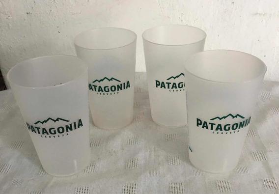 Vasos Cerveza Patagonia - Lote X4 - Plásticos -publicidad-