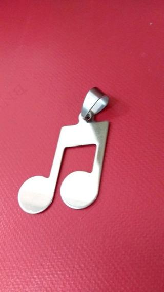 Pingente Musical Em Aço Cirúrgico