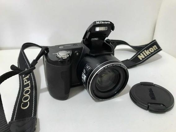 Camera Nikon Coopix L100 Preta
