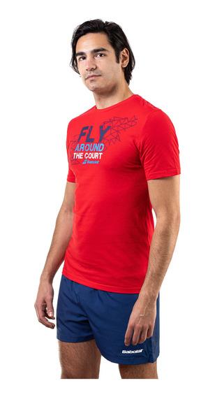 Remera Babolat Hombre Fly Rojo