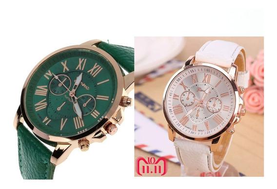 Kit 2 Relógio Geneva Feminino