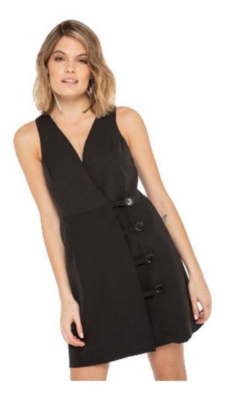 Vestido Corto Ossira Portafolio Con Botones.022