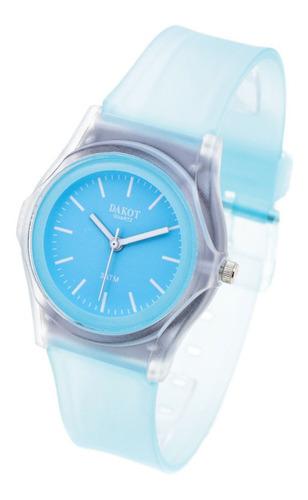 Reloj Dakot Mujer 193 - Caucho Sumergible Malla Transparente