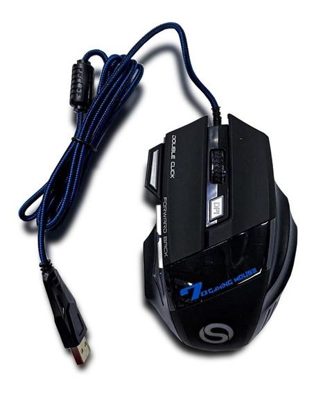Mouse Shinka X7 Botões Rápidos Fps Moba Rpg Mmrpg