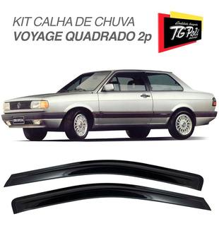 Kit Defletor Calha De Chuva Vw Voyage Quadrado G1 87 88 89 +