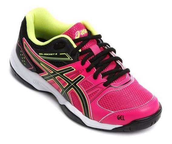 Tênis Asics Gel Rocket 7a Pink Indoor Vôley Squash Handbol