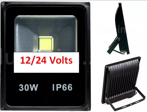 Luminária Luz Led Refletor Holofote 30w/ 12v/24v Uso Solar