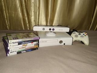 Xbox 360 Slim Kinect + 6 Jogos (troco Por Nintendo Switch)
