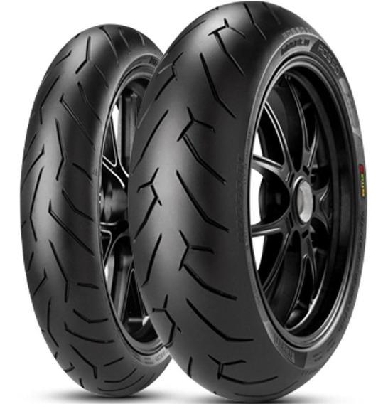 Par Pneu Duke 150/60r17 + 120/70r17 Diablo Rosso 2 Pirelli
