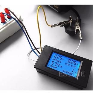 Medidor Energia Digital Ac Wattímetro Voltímetro Amperímetro