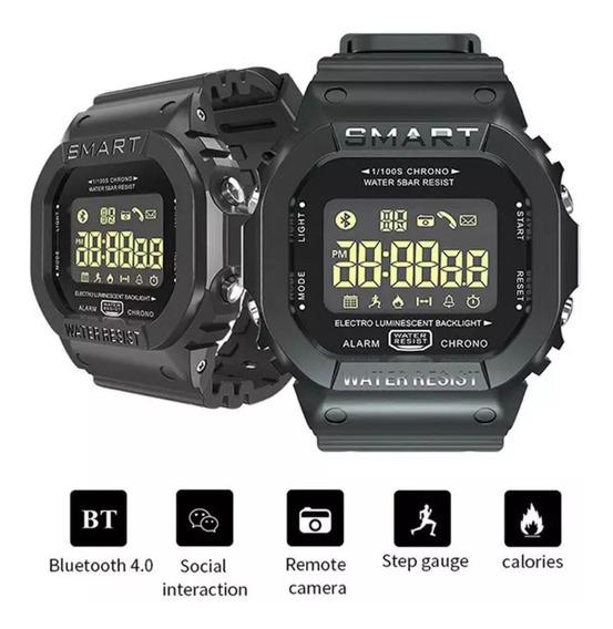Relógio Militar Preto Digital Multifunções Inteligente
