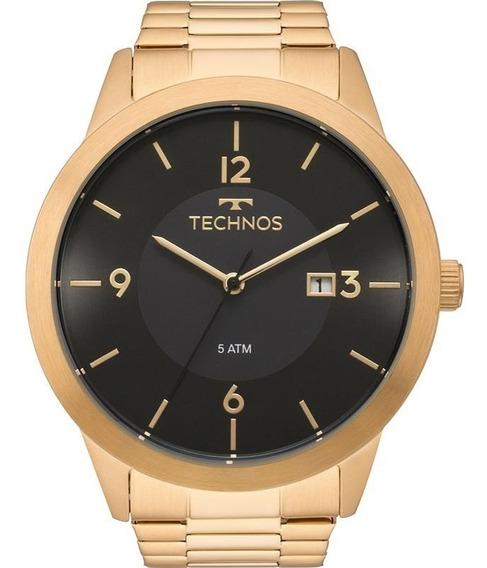 Relógio Technos Masculino Dourado Classic Steel 2115mof/4p