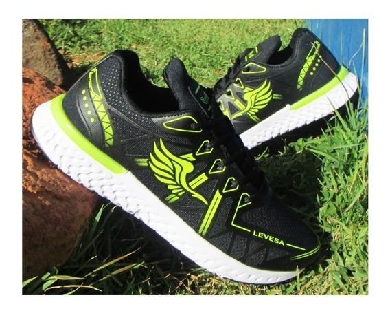 Tenis Masculino Pra Academia Macio E Caminhada Levesa Shoes