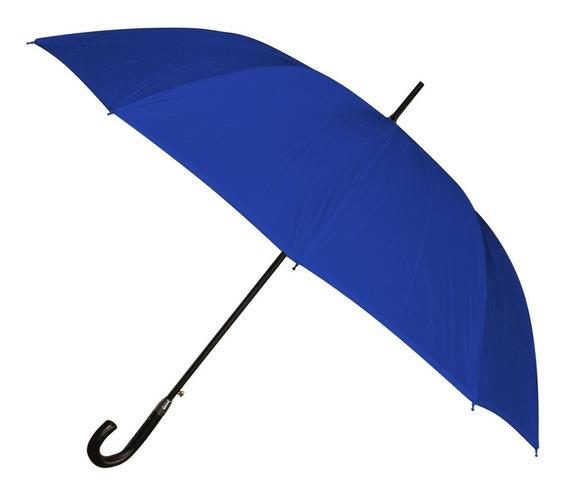 Paraguas Largo 12 Varillas Premium Azul - Mundo Trabajo