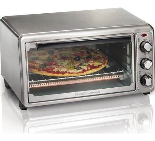 Imagen 1 de 4 de Hamilton Beach Horno Eléctrico Pizza Hasta 30cm 1440watts