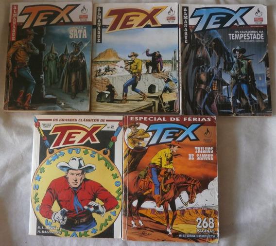 Lote 5 Gibis Tex Almanaque Grandes Clássicos Especial Férias