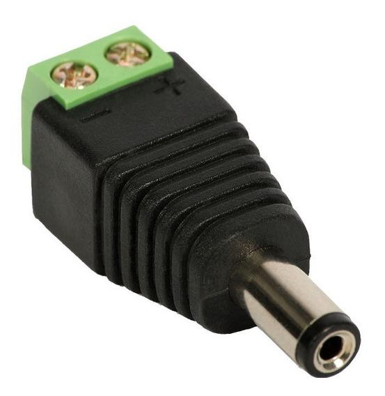 Conector P4 Macho Com Borne Cftv Com 10 Peças