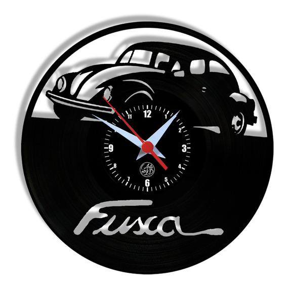 Relógio De Vinil Disco Lp Parede | Fusca