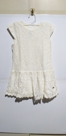 Vestido De Nena Marfil Marca Mimo & Co Talle 4