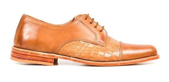 Tremendo Zapato Hombre Sport Cuero Suela Cocodrilo Oferta