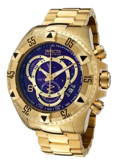 Relógio Excursion Dourado E Azul