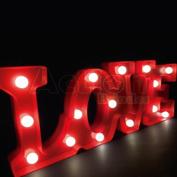Luminária Letreiro Love Em Led 45cm X 17cm