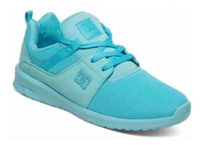 Zapatillas Dc Shoes Mujer!! Modelo Heathrow Verde Agua!!