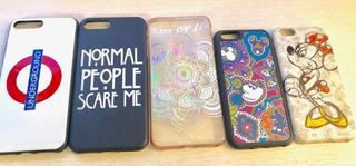 Excelente Conjunto Capa Case iPhone 6 7 8 Plus E Comum Pk5