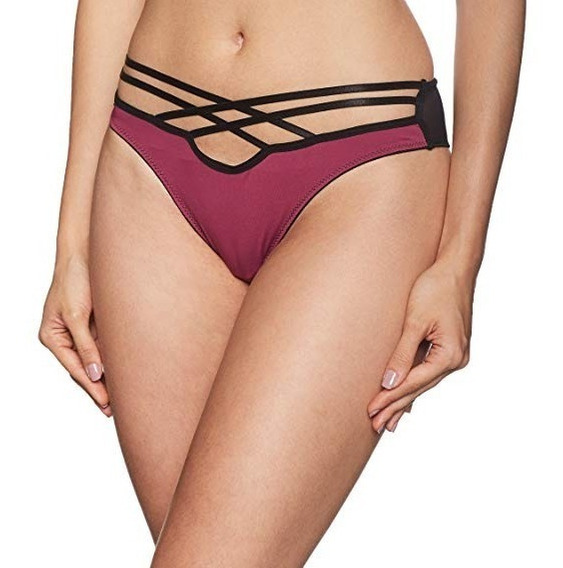 Bikini Lencería Sexy Sensual Vicky Form Negro Vino 10165