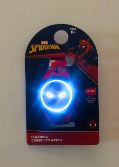 Reloj Spiderman Man Led Jr Nuevo Original Marvel 2