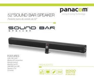 Excelente Soun Bar Panacom Sb-3501 52