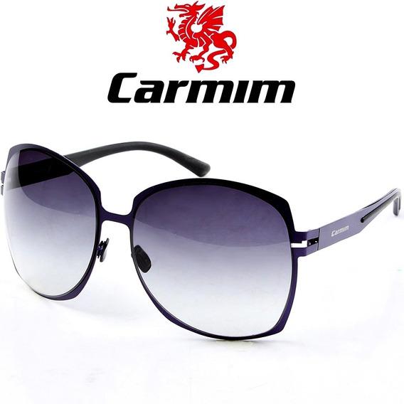 Oculos De Sol Feminino Original Carmim Vintage Retro Roxo