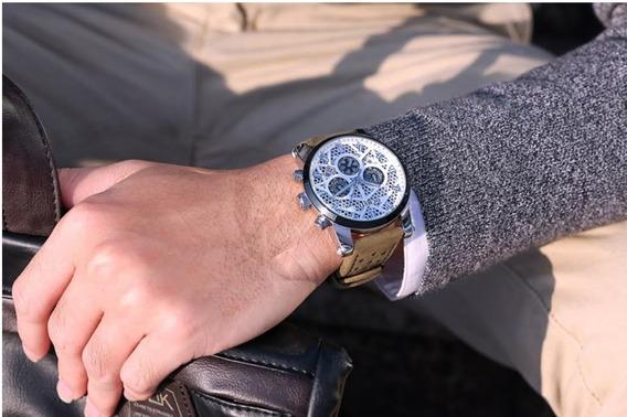 relógio Masculino Ochstin Social Luxo Pulseira De Couro