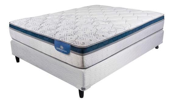 Somier + Colchon 2p 140x190 Serta Florida Firm Super Pillow