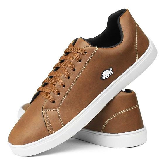 Sapatênis Casual Masculino Sw Shoes Caramelo Esporte Fino