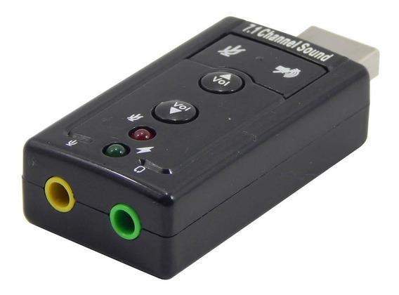 Adaptador Som Usb 7.1 Conector P2 Fone Microfone Barato