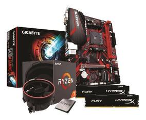 Kit Ryzen 7 2700 Gigabyte B450mg Gaming 2x 8gb Fury 2400mhz