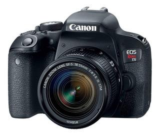 Canon EOS Rebel T7i 18-55mm IS STM Kit DSLR color negro