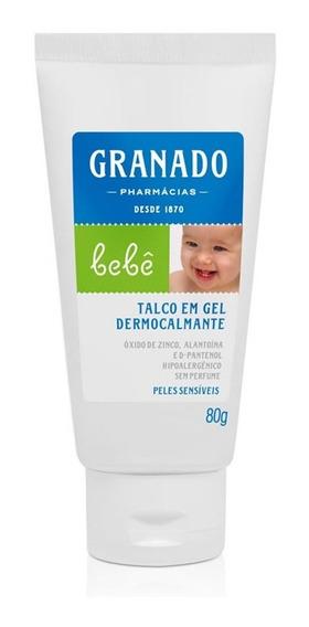 Talco Em Gel Granado Dermocalmente Bebe Peles Sensiveis 80g
