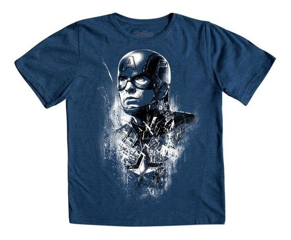 Playera Captain Steve Rogers Niño Mascara De Latex Avengers